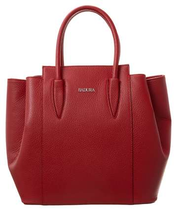 Czerwona skórzana torba BADURA