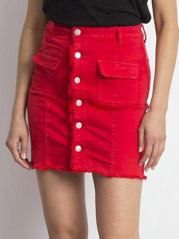 Czerwona spódnica Buttons