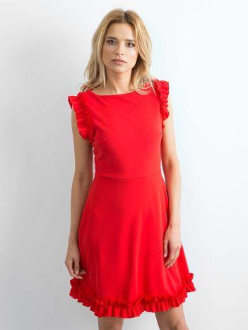 Czerwona sukienka Rebel