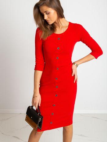 Czerwona sukienka Sting