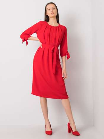 Czerwona sukienka koktajlowa Alethea
