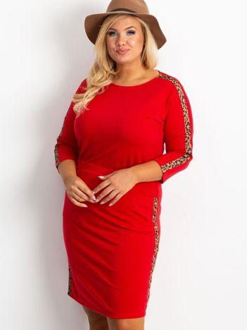 Czerwona sukienka plus size Alison