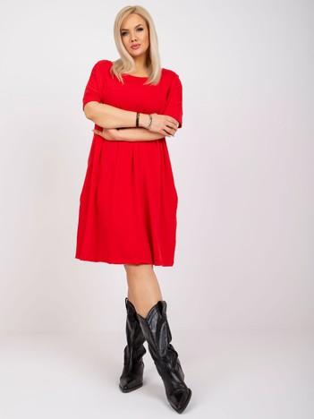 Czerwona sukienka plus size Bellamy