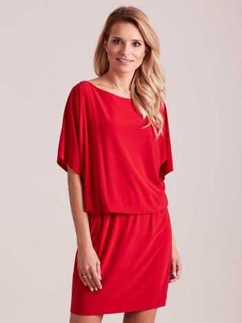 Czerwona sukienka z dekoltem na plecach PLUS SIZE
