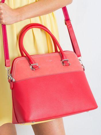 Czerwona torba city bag ze skóry ekologicznej