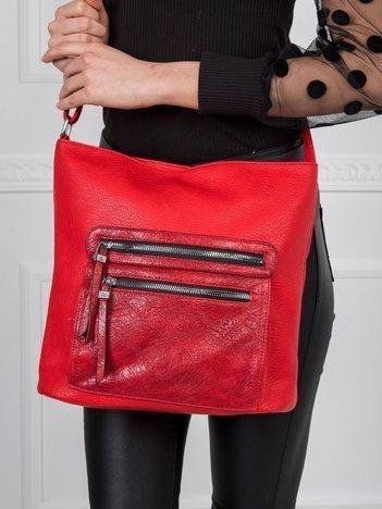 Czerwona torba damska na ramię