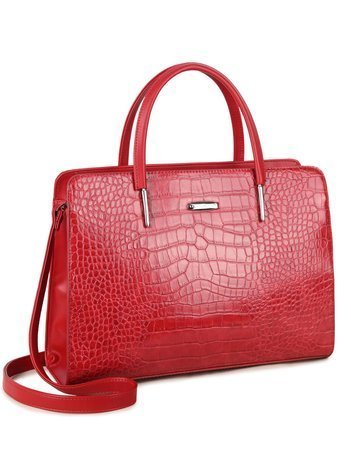 Czerwona torba z motywem zwierzęcym LUIGISANTO