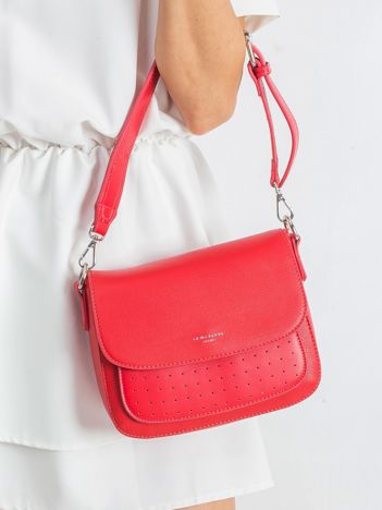 Czerwona torebka damska z ekoskóry