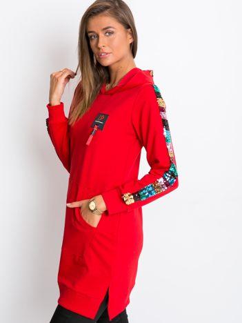 Czerwona tunika Shimmer