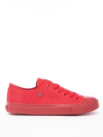 Czerwone ażurowe tenisówki BIG STAR z gumowanym przodem