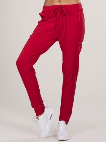 Czerwone bawełniane spodnie dresowe