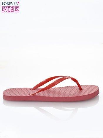 Czerwone gumowe japonki damskie
