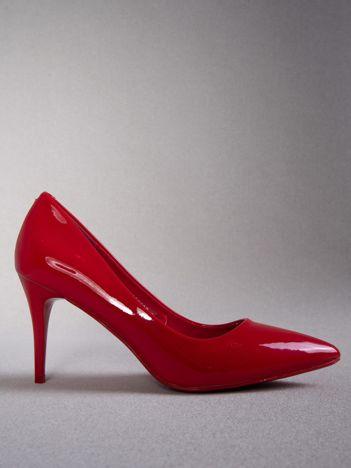 Czerwone lakierowane szpilki Kylie