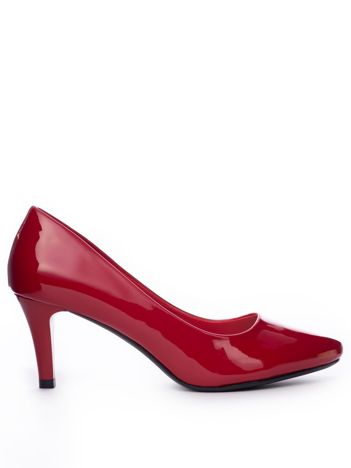 Czerwone lakierowane szpilki Sergio Leone
