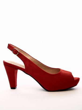 Czerwone sandały SABATINA z ecozamszu
