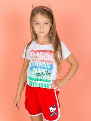 Czerwone szorty dla dziewczynki HELLO KITTY