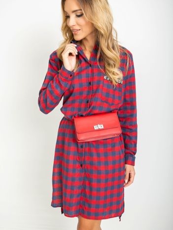 Czerwono-granatowa sukienka Abbey