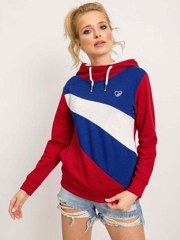 Czerwono-niebieska bluza Elodie
