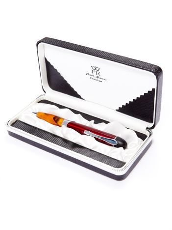 Czerwony długopis w eleganckim etui