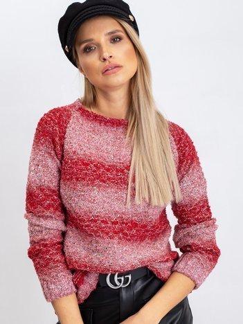 Czerwony sweter Loop