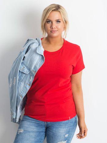 Czerwony t-shirt Innocence PLUS SIZE