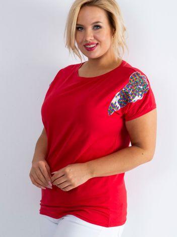Czerwony t-shirt Magically PLUS SIZE