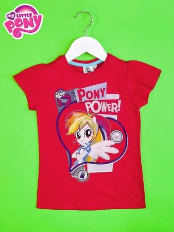 Czerwony t-shirt dla dziewczynki z nadrukiem MY LITTLE PONY