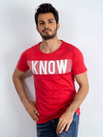 Czerwony t-shirt męski Finesse