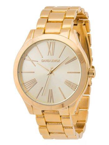 DAVID LENOX Zegarek damski srebrno-złoty na bransolecie Eleganckie pudełko prezentowe w komplecie