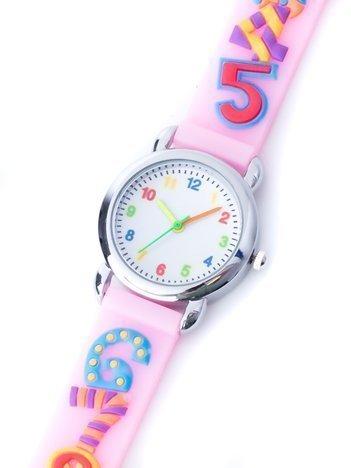DIGIT Jasnoróżowy Dziecięcy Zegarek Cyferki