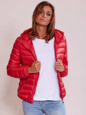 Damska kurtka pikowana czerwona