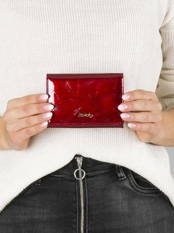 Damski czerwony portfel ze skóry
