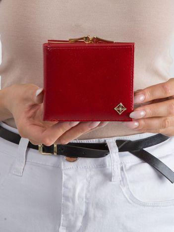 Damski portfel z ekoskóry czerwony