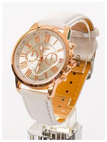 Damski zegarek GENEVAz ozdobnym datownikiem i perłową tarczą