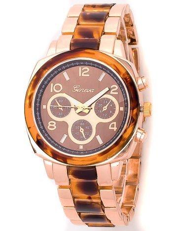Damski zegarek na bransolecie w kolorze różowego złota