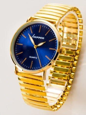 Damski zegarek na złotej elastycznej bransolecie