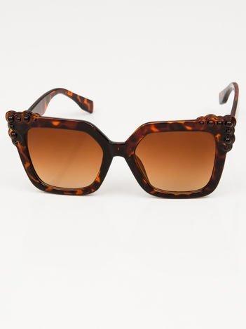 Damskie duże okulary słoneczne pantera