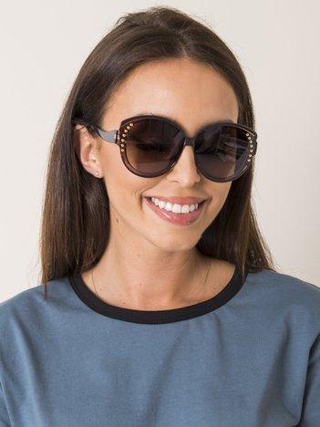 Damskie owalne okulary z dżetami