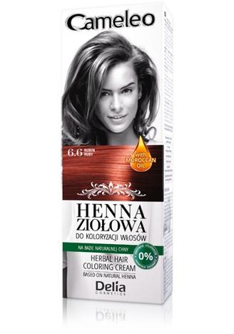 Delia Cosmetics Cameleo Henna Ziołowa nr 6.6 rubin 75g
