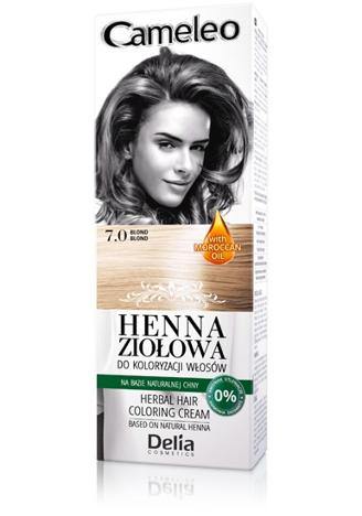 Delia Cosmetics Cameleo Henna Ziołowa nr 7.0 blond 75g
