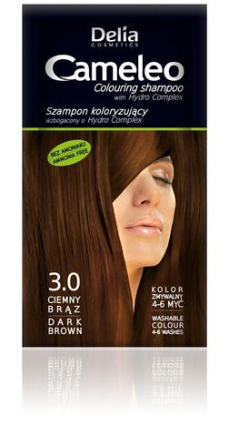 """Delia Cosmetics Cameleo Szampon koloryzujący 3.0 ciemny brąz"""""""