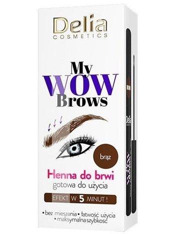 Delia Cosmetics My Wow Brows Henna do brwi ekspresowa - brązowa 6 ml
