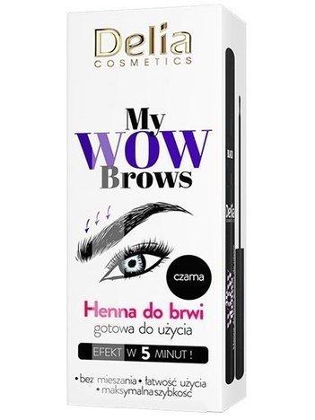 Delia Cosmetics My Wow Brows Henna do brwi ekspresowa - czarna 6 ml