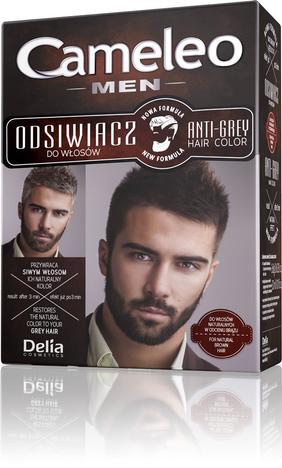 Delia Cosmetics Odsiwiacz dla mężczyzn do włosów naturalnych w odcieniach brązu CAMELEO MEN