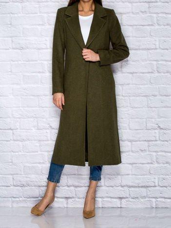 Długi klasyczny płaszcz khaki