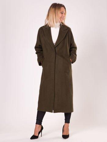 Długi płaszcz damski khaki