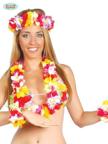 Długie kolorowe hawajskie kwiaty na imprezę