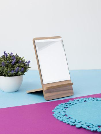 Drewniane lustro stołowe