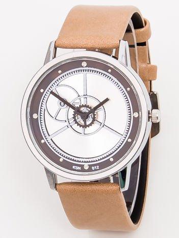 Duży Beżowy Zegarek RETRO