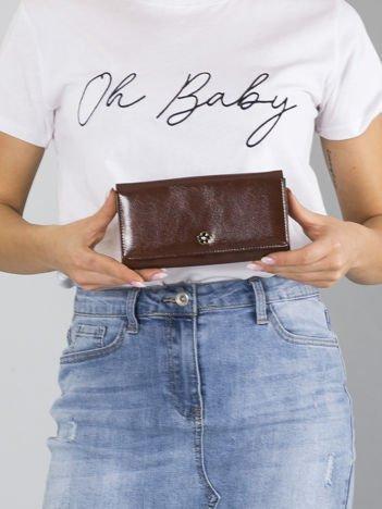 Duży brązowy portfel skórzany